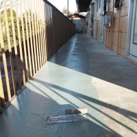 埼玉県深谷市のマンション共用廊下の防水工事