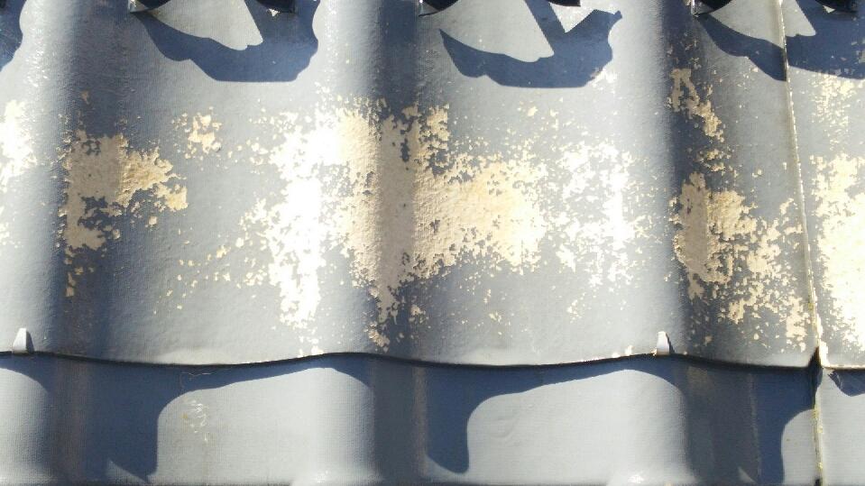 瓦屋根の塗装工事の施工前