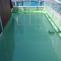 東京都調布市のルーフバルコニーの防水工事の施工後