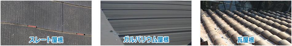 屋根の材料を確認する