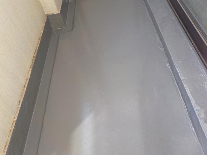 ビル屋上防水工事の施工完了