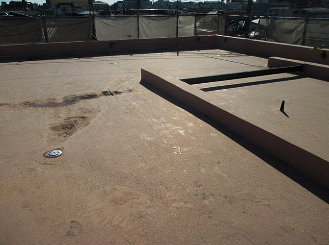 マンション屋上防水工事の施工前
