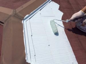東京都墨田区の屋根塗装工事の施工事例