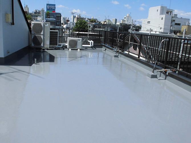 ビル屋上防水工事の完了