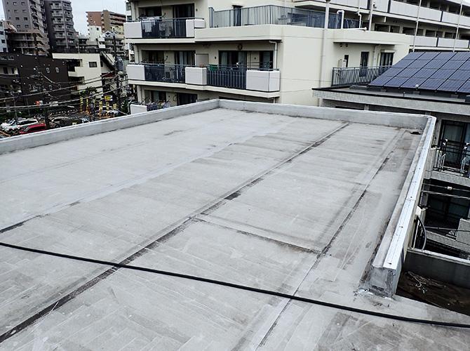 柏市マンションの屋上防水工事の施工前