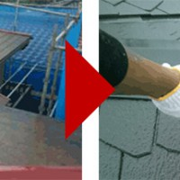 神奈川県横浜市南区の屋根塗装の施工事例