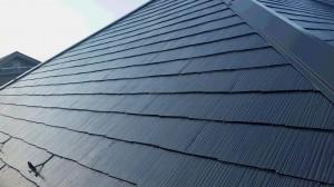 埼玉県の屋根塗装工事の上塗り施工完了後