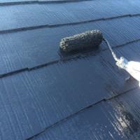 東京都豊島区の屋根塗装工事の上塗り