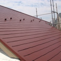 神奈川県横浜市の屋根の上塗り完了後