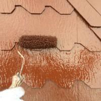千葉県我孫子市の屋根塗装の上塗り