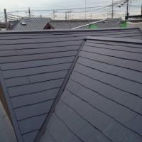 埼玉県所沢市の屋根塗装の上塗り施工後