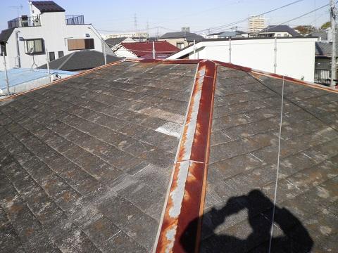 屋根カバー工法の施工前