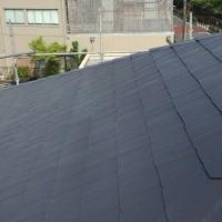 東京都足立区の屋根塗装の施工完了後