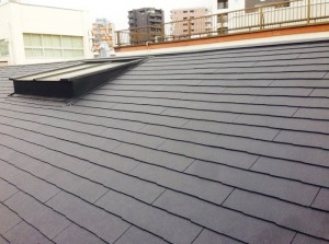 東京都品川区の屋根の葺き替え工事の施工完了後