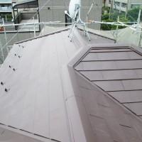 埼玉県戸田市の屋根カバー工法の施工完了後
