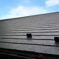 屋根材の設置完了後