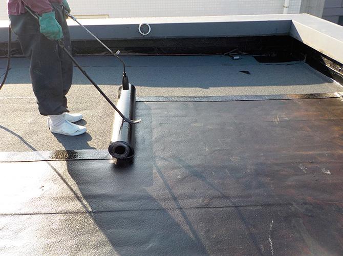 ビルの屋上防水工事