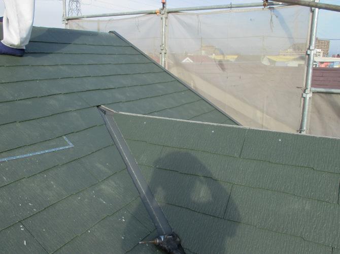 屋根材の設置後