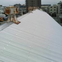 屋根カバー工法の施工完了