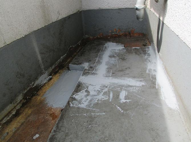 バルコニー防水工事の施工前の状態