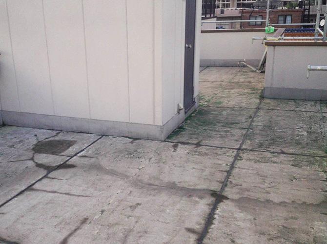屋上の防水工事施工前