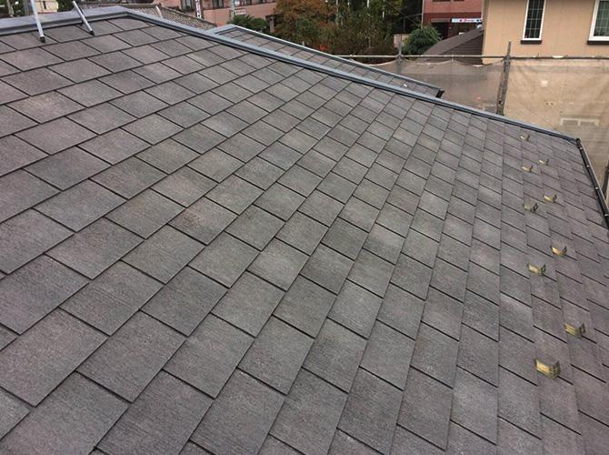 屋根塗装工事の施工前の状態