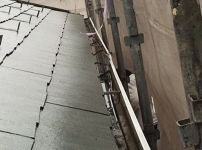 雨樋修理工事の施工前