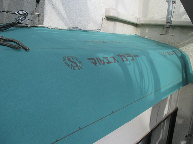防水シートの設置