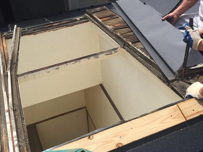 屋根修理の施工前