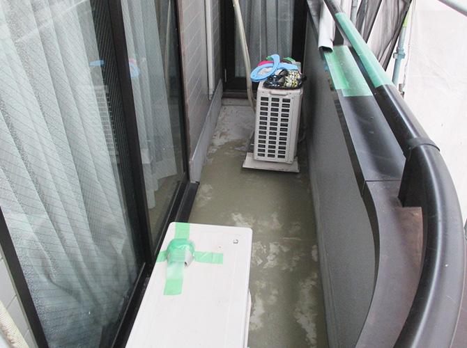 バルコニー防水工事の施工前