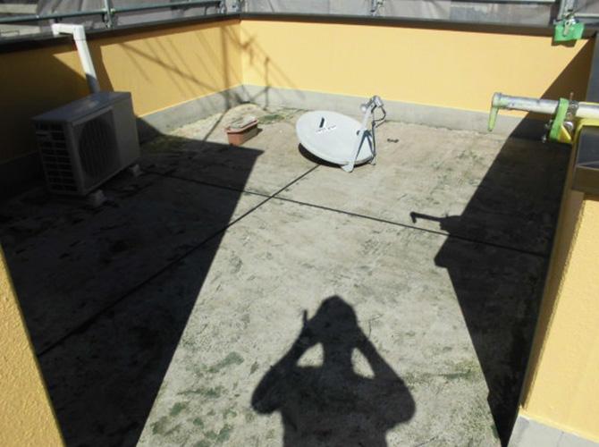屋上立上り部分塗装完了後
