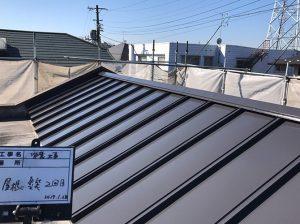 東京都杉並区マンションの屋根塗装の施工完了後