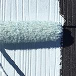 屋根塗り替え工事の下塗り