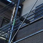 屋根塗り替えリフォームの足場の設置
