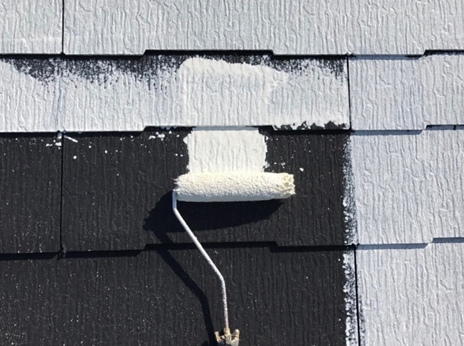 屋根塗装の下塗り