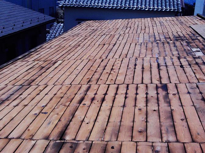 トタン屋根の撤去した状態
