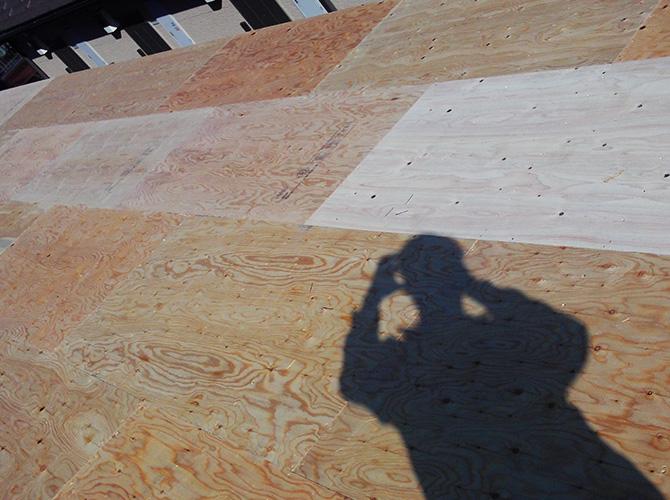 野地板の設置