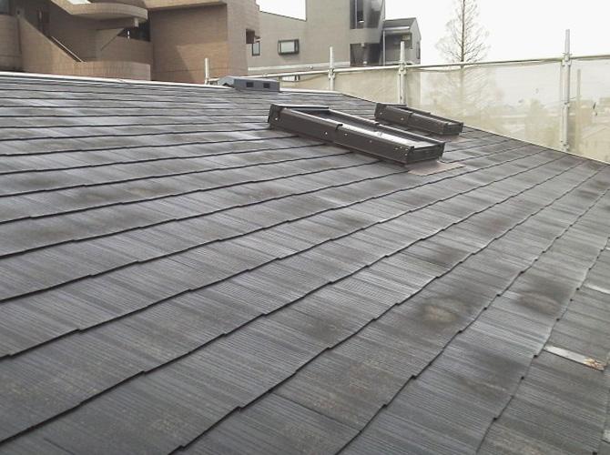 屋根の高圧洗浄の完了後