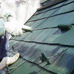 足立区Y様邸の屋根塗り替えリフォーム – 緑色の遮熱塗料で屋根の塗装工事