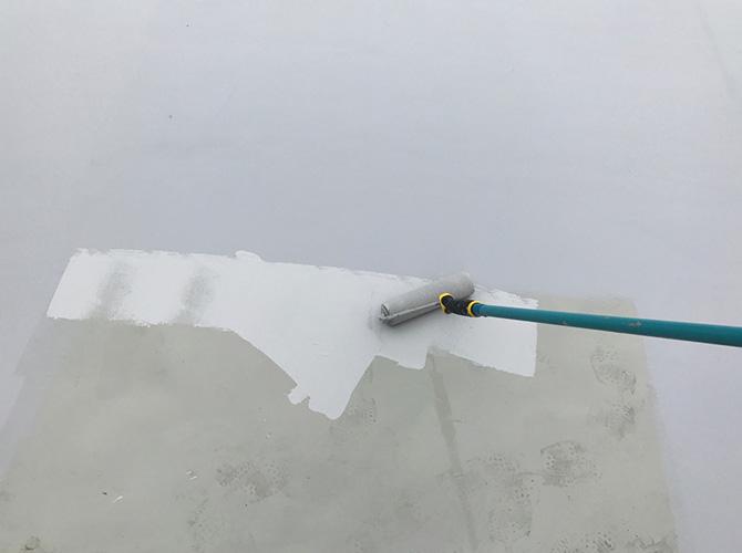 屋上防水工事のトップコート