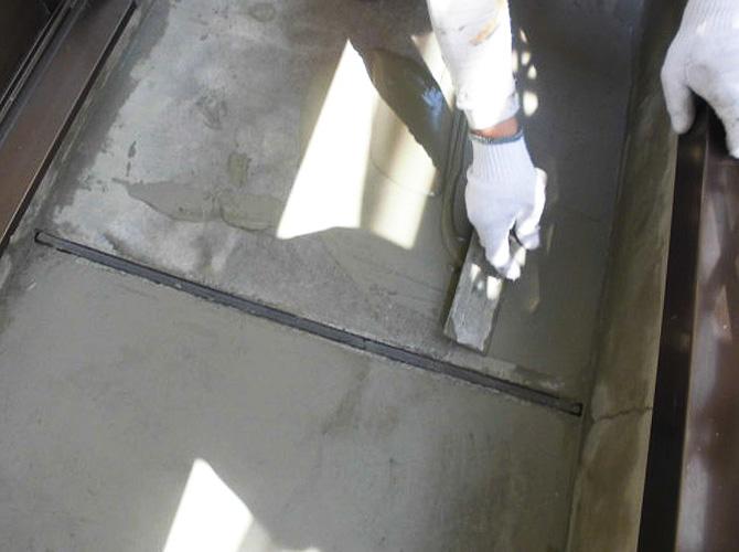 床部分の下地調整
