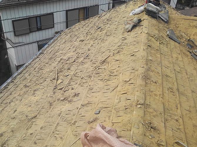 屋根材の撤去完了