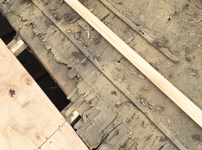 屋根材の撤去後