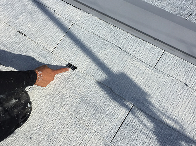 屋根のタスペーサーの設置