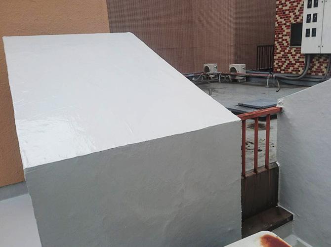 屋上設備の防水完了後