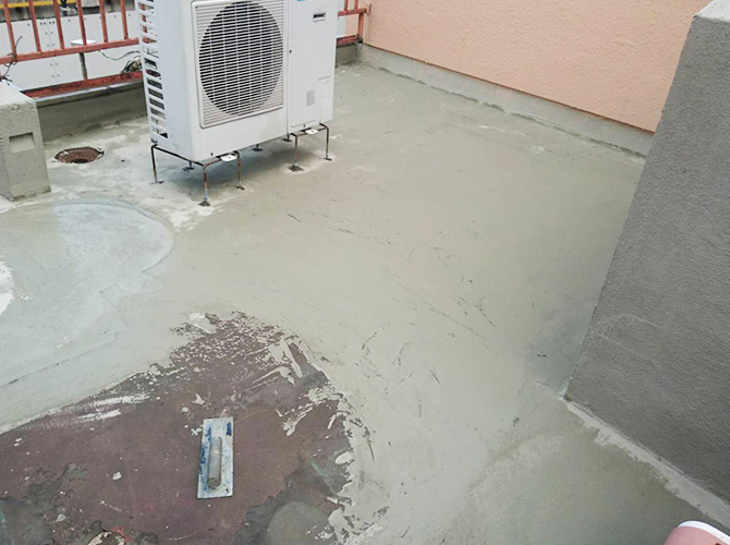 屋上の下地調整