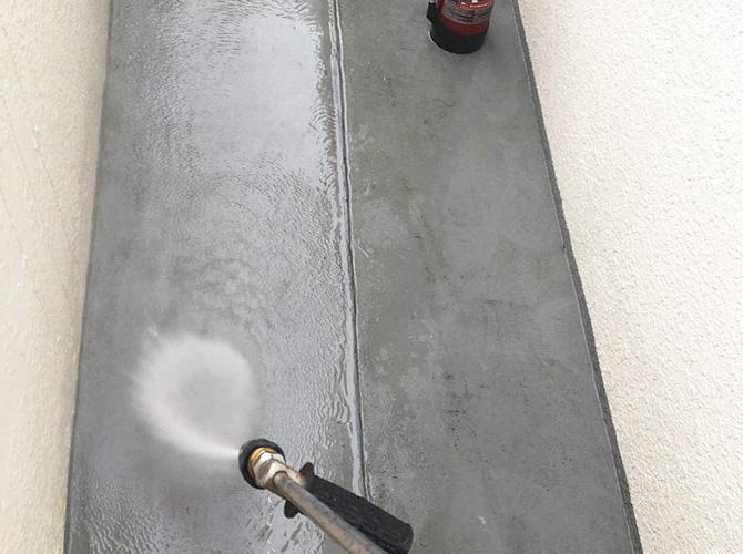 廊下部分の高圧洗浄