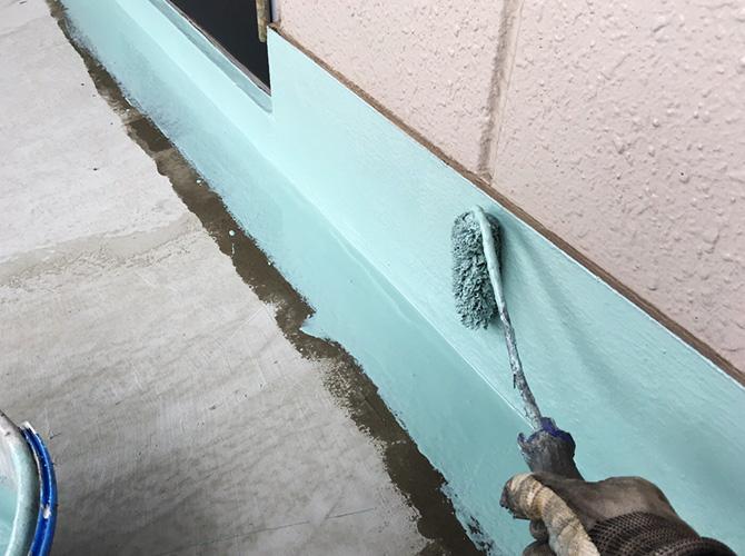 防水材の2層目