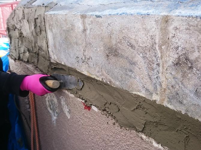 樹脂モルタルで屋根修理