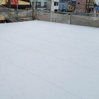屋上防水工事の施工完了後